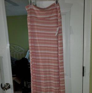 NWT Striped Maxi Skirt